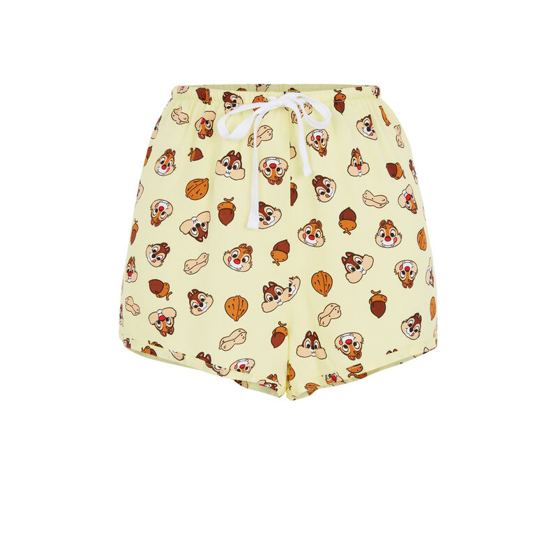 Chip 'n' Dale print shorts - yellow;