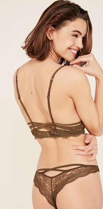 Soutien-gorge bustier kaki triangle everydayiz green.