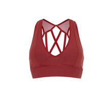 Macrasportiz brick-coloured bra red.
