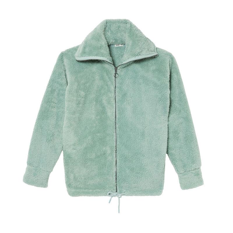 zipped fleece jacket - water green;