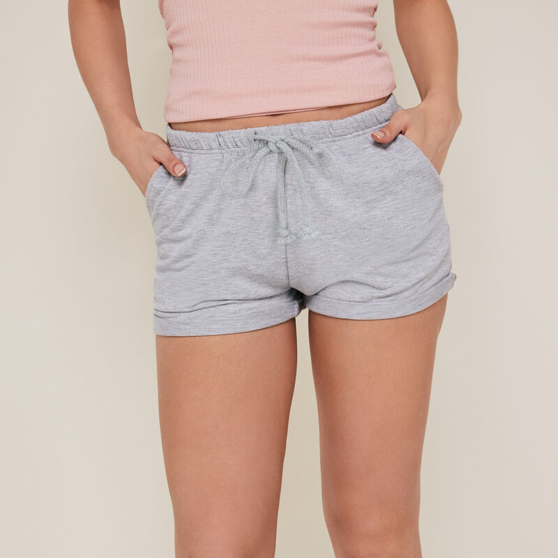Plain fleece shorts - grey;