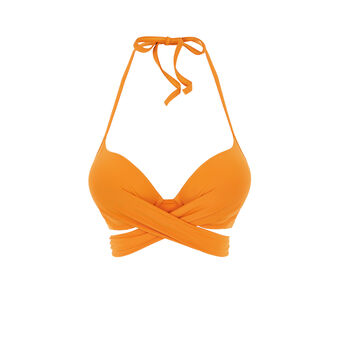 Parte de arriba de bañador súper push-up naranja fusioniz orange.