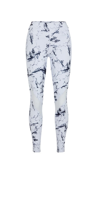 Yogamarbliz marble print sports leggings white.