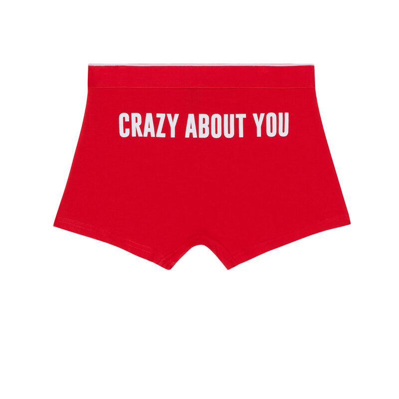 boxer crazy about you - rouge;