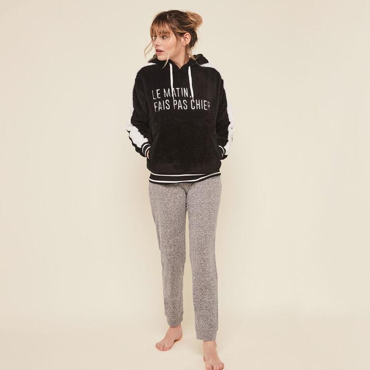 Matichieusiz message fleece hooded sweatshirt ;