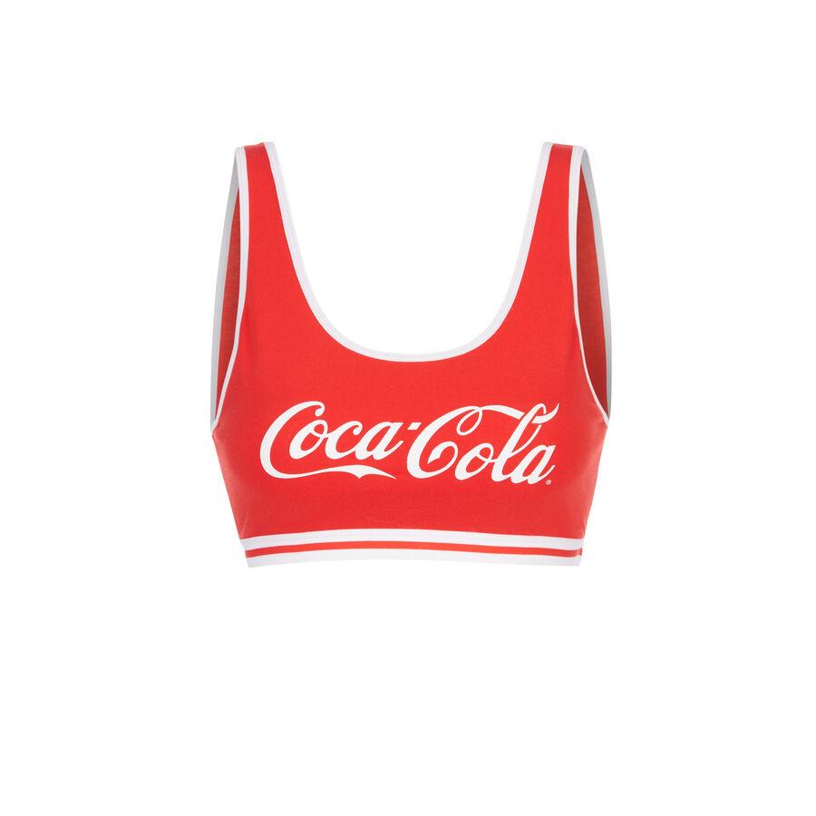 Cocacoliz red bra;