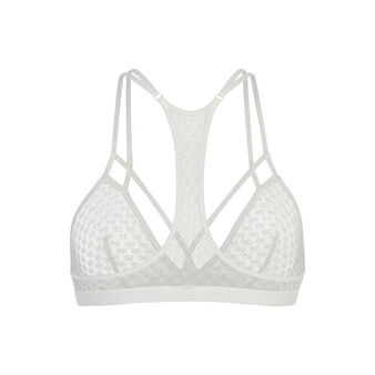 Petitirangliz white triangle bra white.