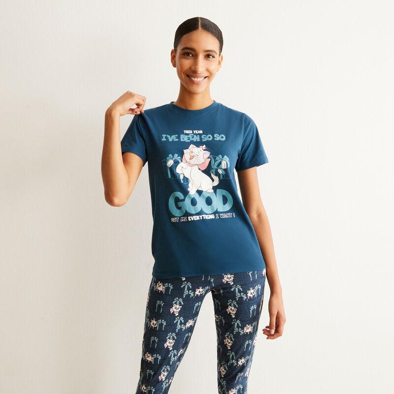 Aristocats short-sleeved pyjama set - blue;