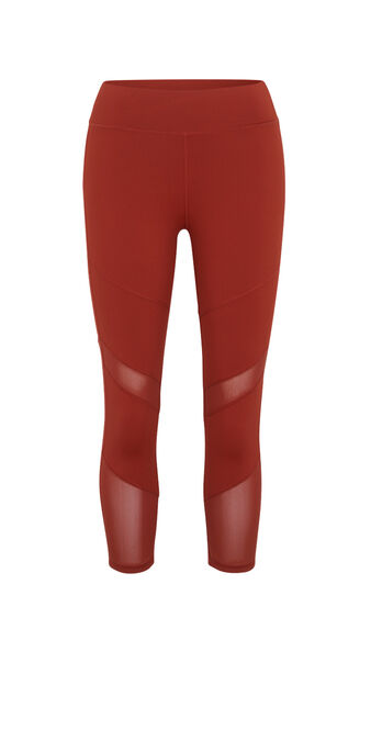 Macrasportiz brick-coloured leggings red.