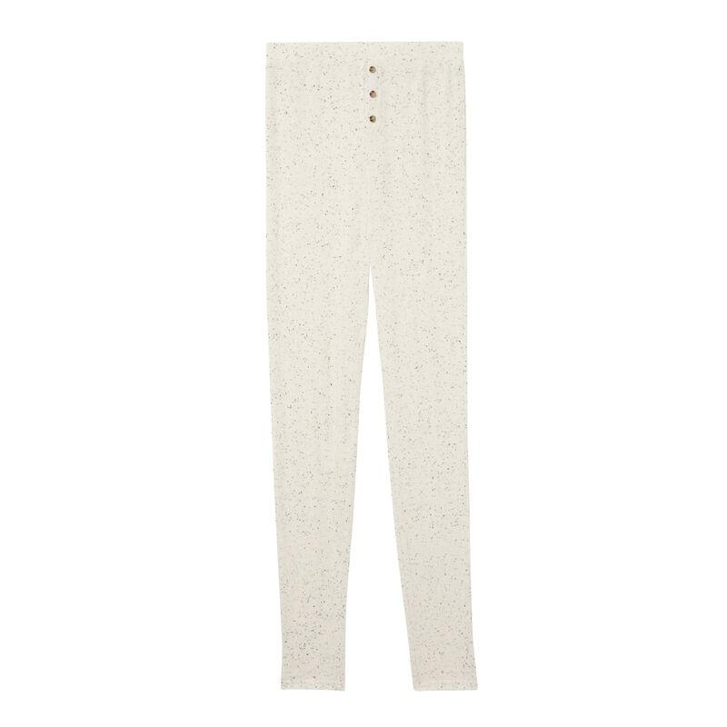 Mottled ribbed leggings - off-white;
