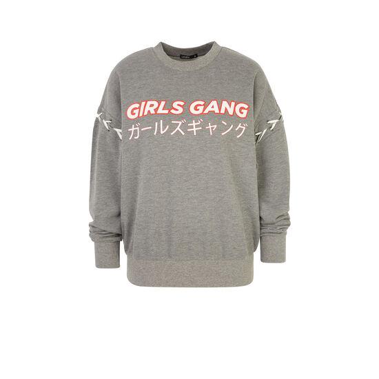 Girlgiz grey sweatshirt;