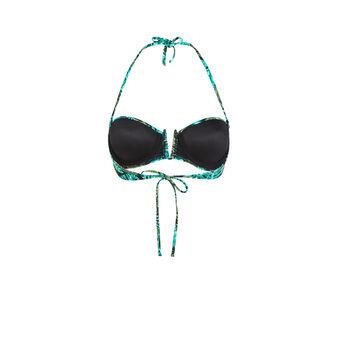 Arubaiz green bandeau swimsuit green.