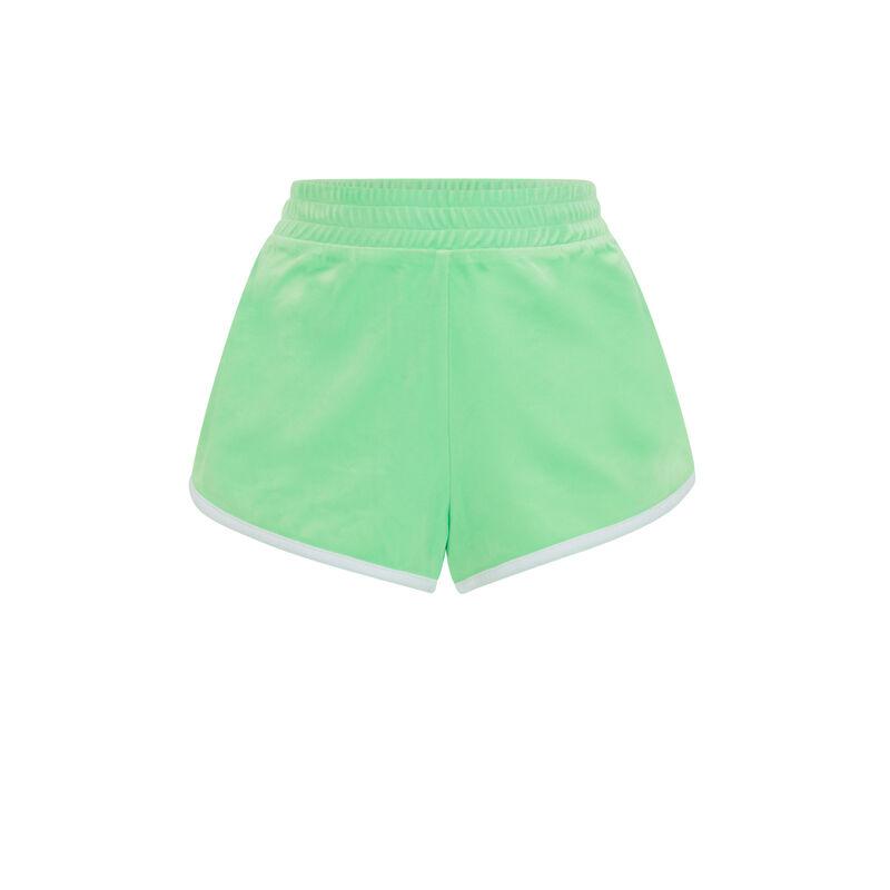 Однотонные бархатные шорты - яблочно-зеленый;