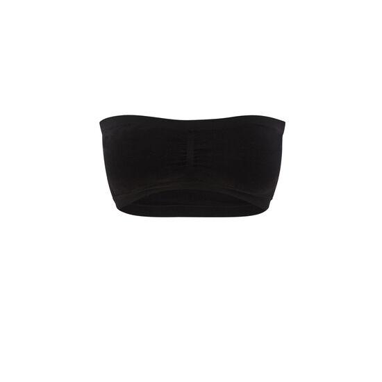 New brooklyniz black bandeau bra;