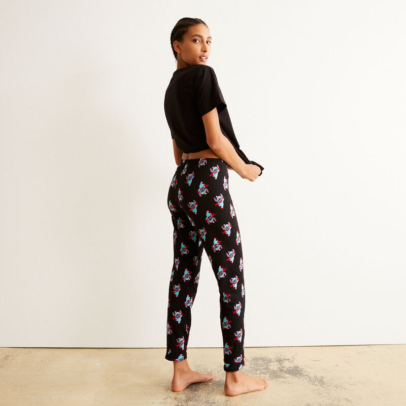 Stitch patterned trousers - black;