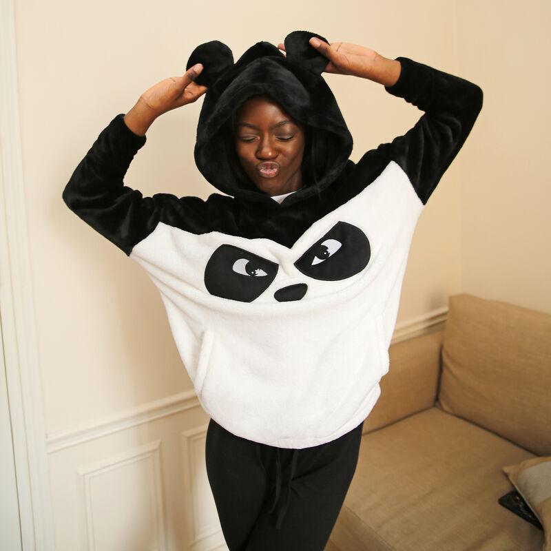 polar z pandą z napisem grumpy panda - kolor czarny ;