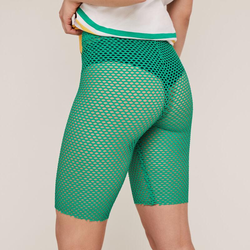 Mesh cycling shorts - green ;