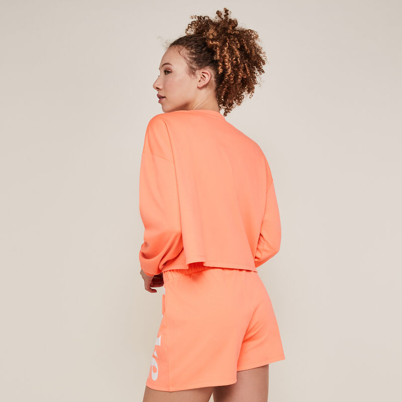 Coca-cola fleece shorts - fluorescent coral;