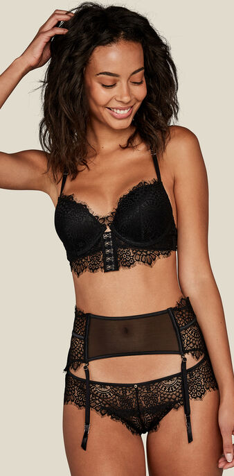 Reggiseno a bustier push nero superluxiz black.