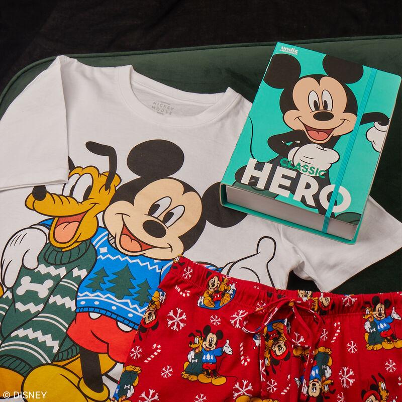 Mickey and Plyto short-sleeved pyjama set - white;