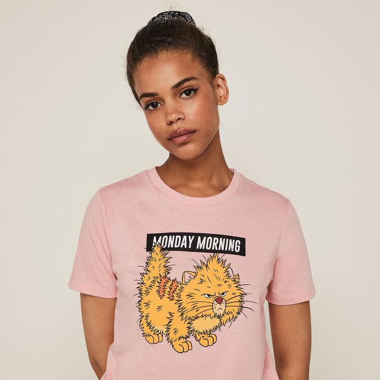 Nompndayiz Toulouse print short-sleeved Aristocats top;