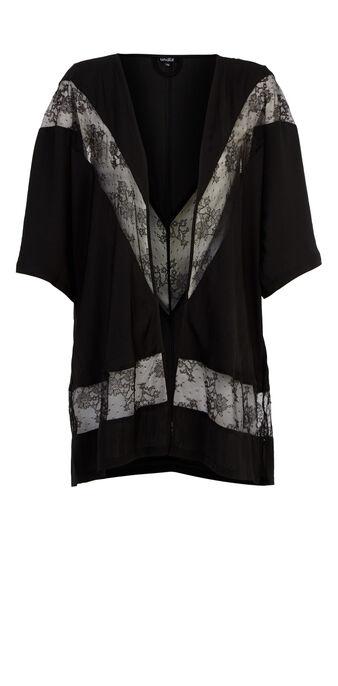 Enticiz black kimono black.