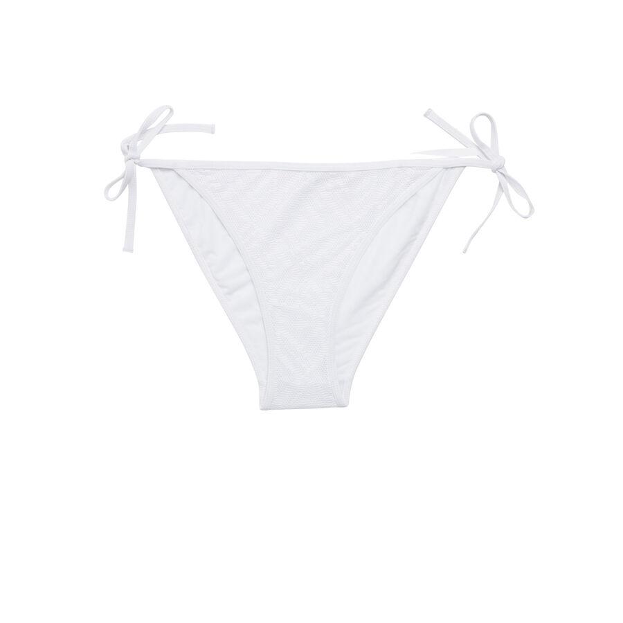 Жемчужно-белый низ купальника crochiz;