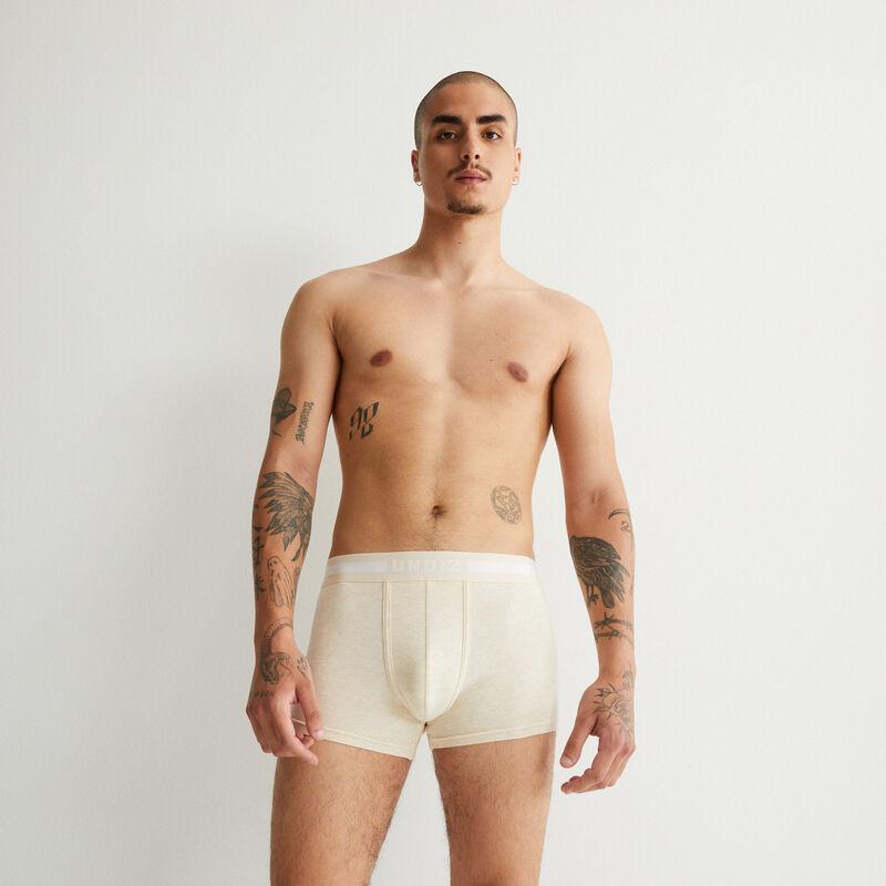plain cotton boxers - ecru;