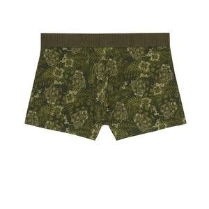 boxers with hibiscus motifs - khaki
