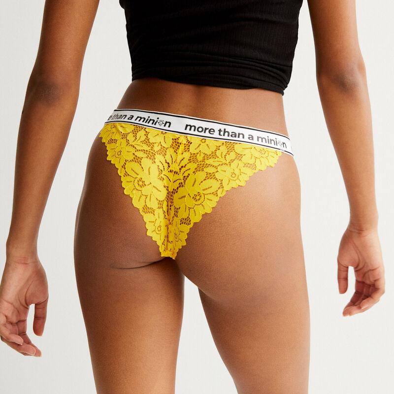 more than a minion elasticated briefs - yellow;