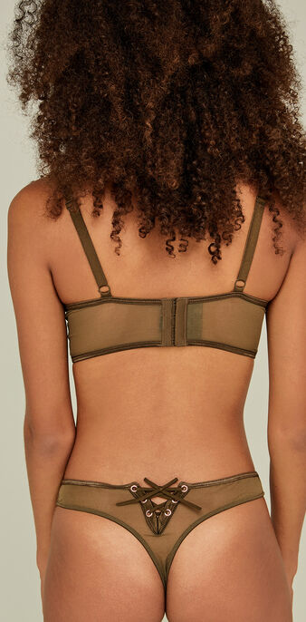 Corseteriz khaki push-up bra green.