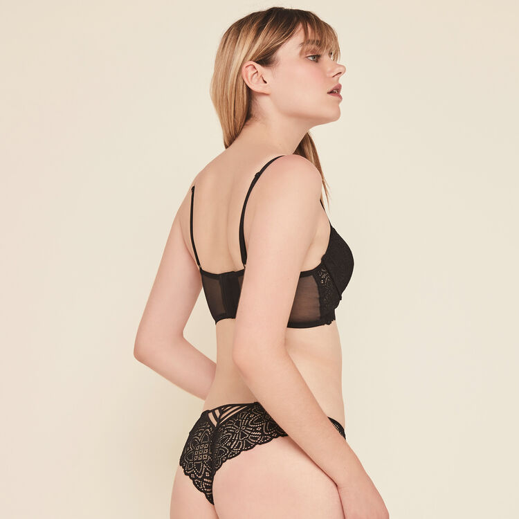 Marceliz lace tanga briefs;