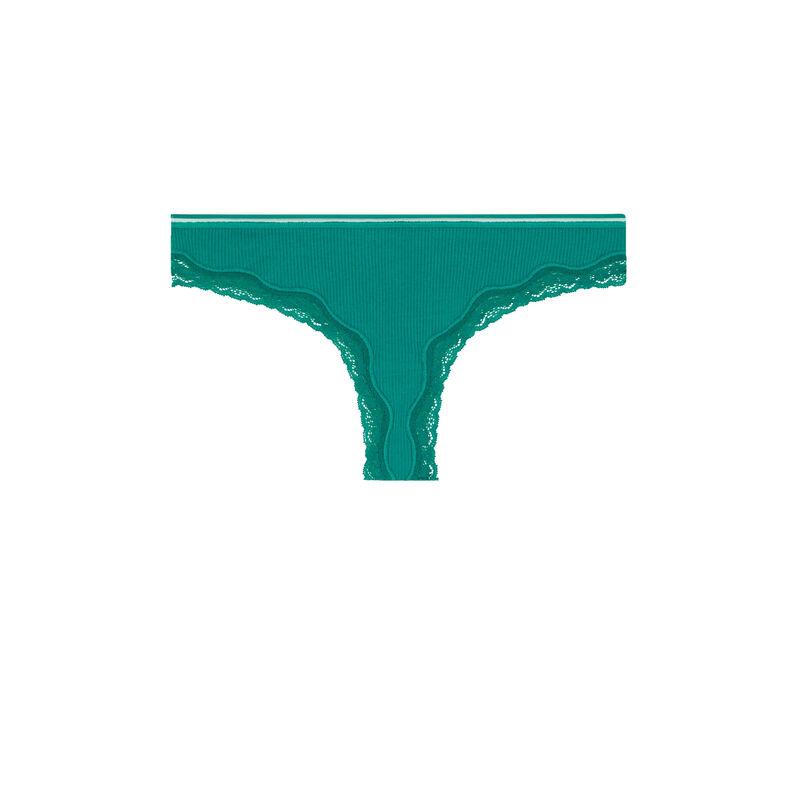 Brazyliany tanga z bawełny - zielone;