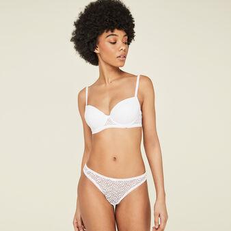 Aviciz white padded bra white.