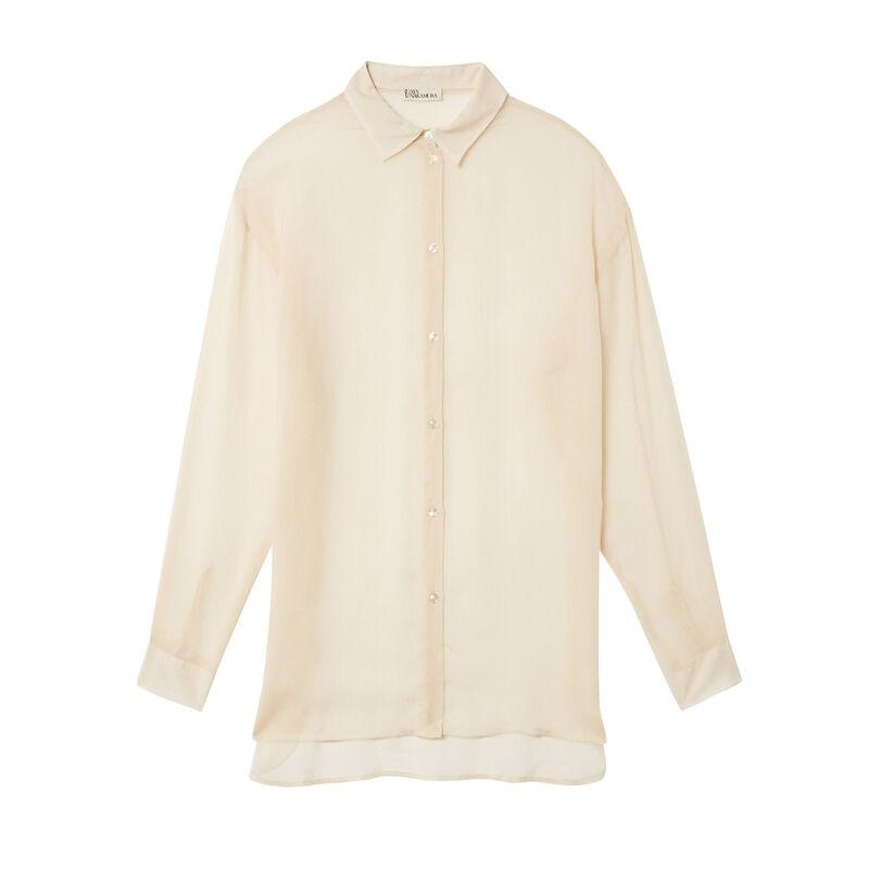 chemise transparente Aya x undiz - écru;
