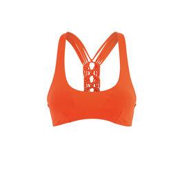 Africaniz orange bralette bikini top orange.