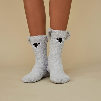 Thekoaliz grey socks grey.