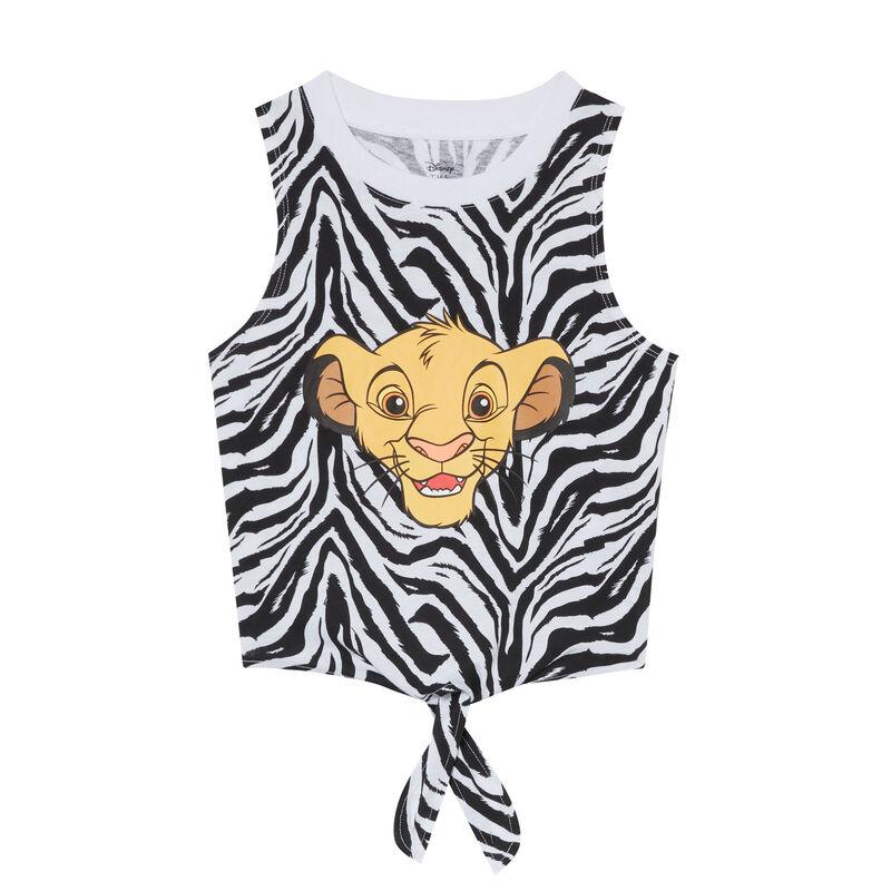 Lion King zebra print top - black;