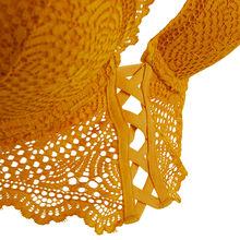 Mahaliz golden yellow push-up bustier bra yellow.