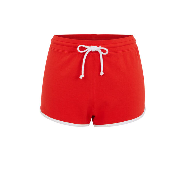 Cocacoliz red shorts;