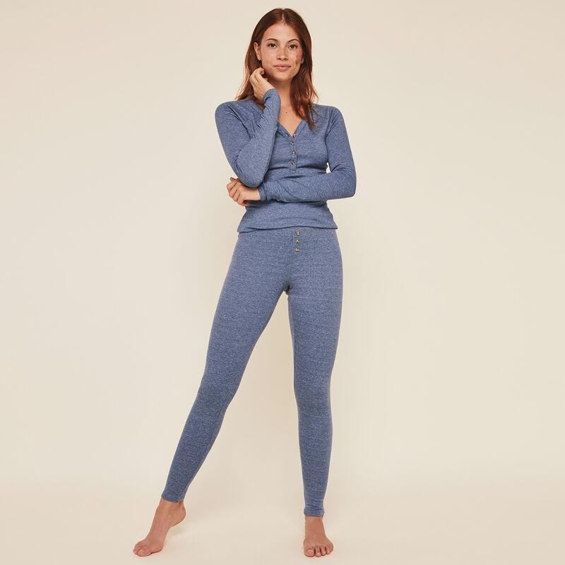 Minimimiz plain ribbed leggings;