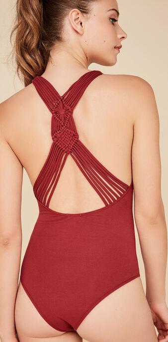 Canoeiz burgundy bodysuit red.