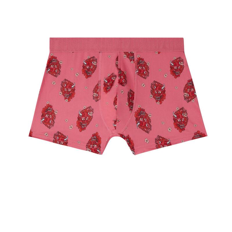 Masked demon print boxers - pink;