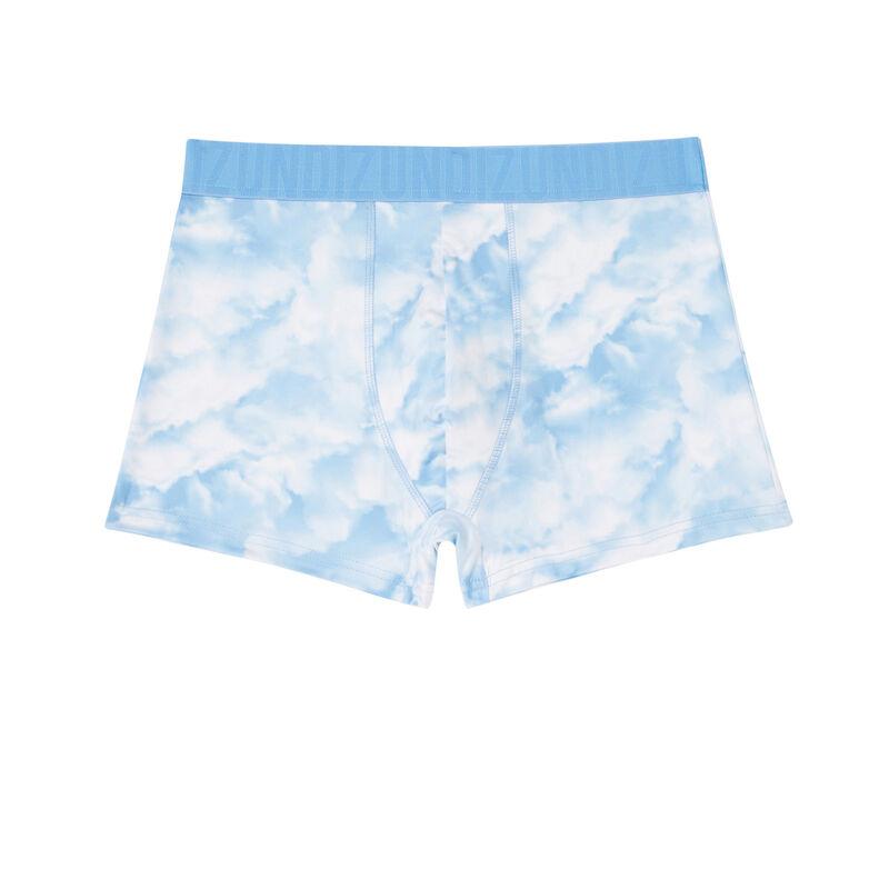 cloud print boxers - white;