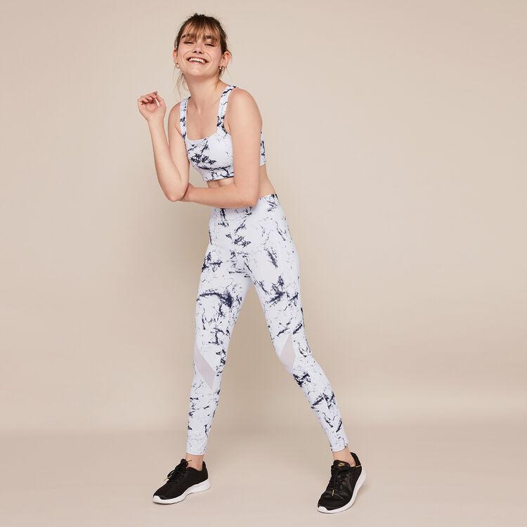 Yogamarbliz marble print sports bra;