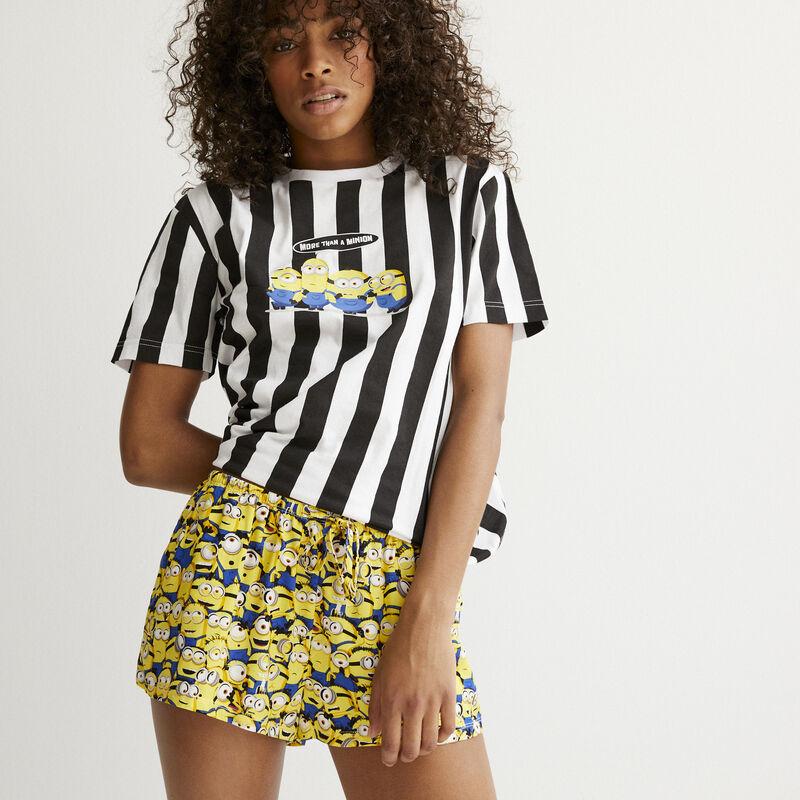 Minions patterned shorts - white;