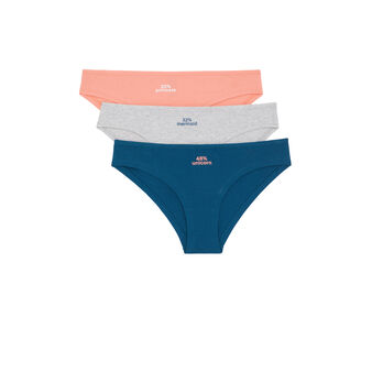 Pair of pourcentiz underwear różowy.