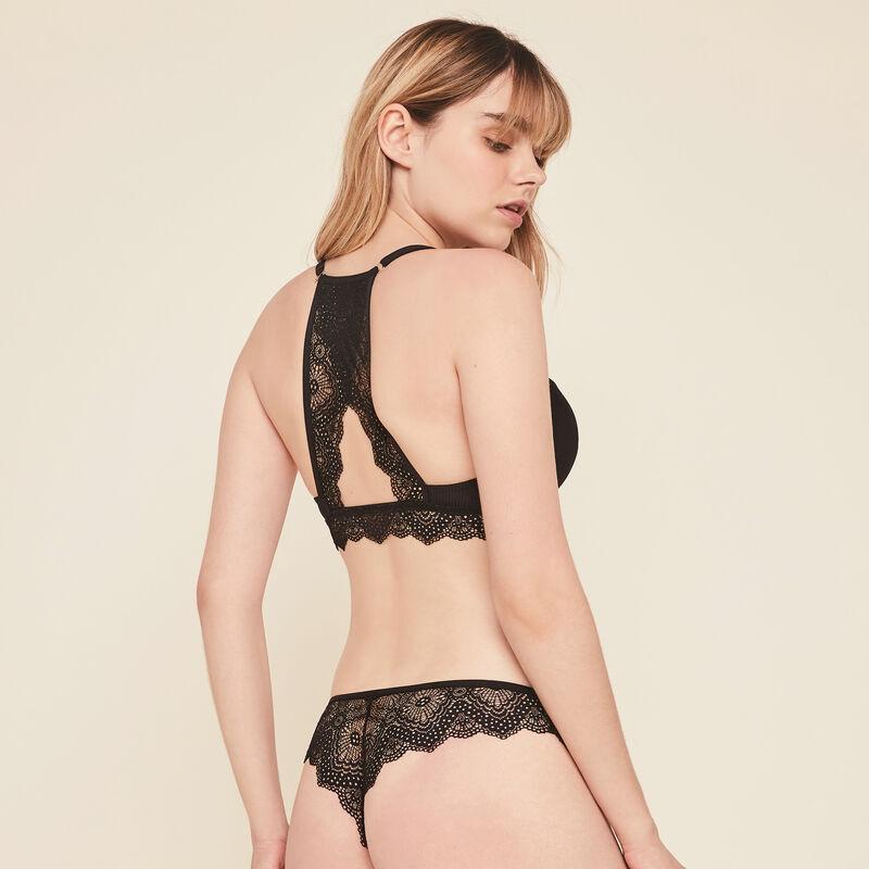 Merveilliz micro/lace push-up bra;