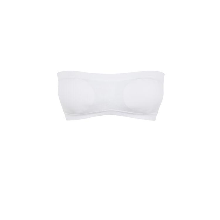 New whitiz white bandeau bra;