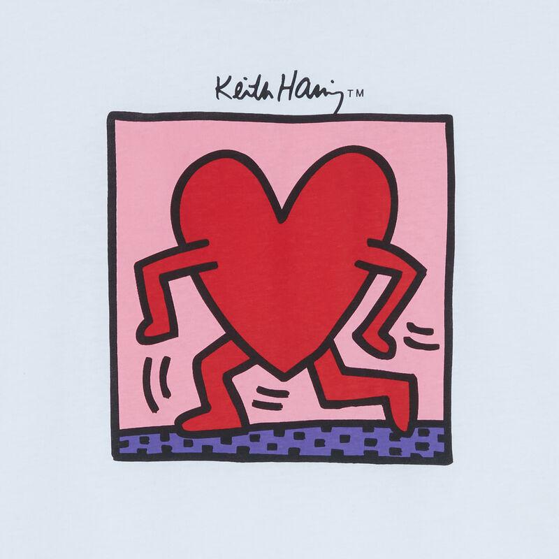 """топ с принтом """"сердце от Кита Харинга"""" - белый;"""